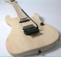 Stock ESPA Electric Guitar Kits Unfinished Guitar Floyd Rose Bridge No Painting