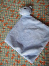 "GEORGE ASDA TEDDY BEAR  BLUE COMFORTER 9"" APPROX"