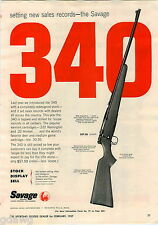 1957 ADVERT Savage Rifle Shotgun 340 Magazine Pistol Grip Baseball Hall Of Fame