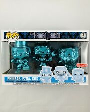 Funko Pop! Haunted Mansion Phineas, Ezra, & Gus Chrome 3 Pack Target Exclusive