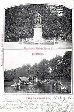 Franzensbad Monument Denkmal Kaiser I. Stadtteich Boot 1905