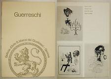 Bruno GIUSEPPE GUERRESCHI Grafica 1963 1972 S Marco Giustiniani Genova