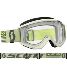 Scott Recoil XI Gafas de motocross beige/marrón con TRANSPARENTE COMPATIBLE