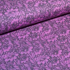 Patchwork Stoff - Tula Pink - Free Spirit - Grau Pink - Blumenmuster - 100% BW