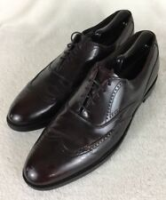 Hanover Masterflex Burgundy Leather Wingtip Shoes Brogue Oxfords Size 11 B/AA