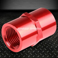 """FEMALE 1/2""""-14 NPT PIPE PIPING COUPLER RED ANODIZED ALUMINUM FITTING ADAPTER"""