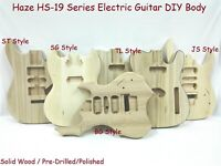 Electric Guitar Body,Solid Basswood w/Pre-Cut,Polished,Drilled HSJS 19210BO
