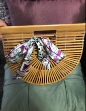 Women's Handmade Bamboo Handbag Summer Beach Sea Tote Bag