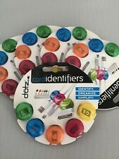 DOTZ Cord Identifiers, 5 Pieces, Assorted Colors, (Pack Of 5), 20 Pcs.