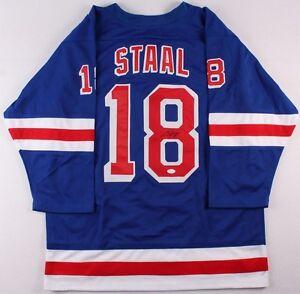 Marc Staal Signed Rangers Jersey (JSA COA)