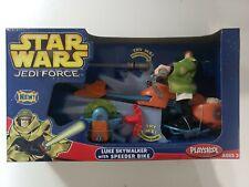 Star Wars Playskool Jedi Force Luke Skywalker with Speeder Bike/ NEW