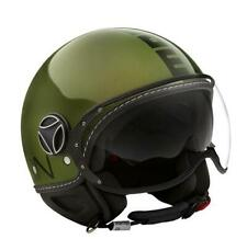 JET HELMET MOMO DESIGN FIGHTER EVO METALLIC GREEN - BLACK SIZE XL