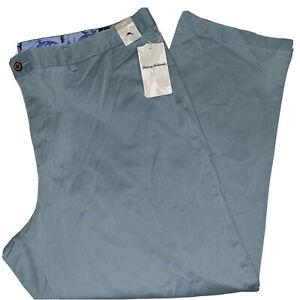 Tommy Bahama Big & Tall Boracay Flat-Front Chino Pants Blue Sz 46x30   BT120338