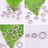 Tibetan silver Charm Round Closed Jump Ring Spacer Beads Jewelry Finding 4,6,8mm