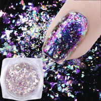 Xmas 0.5g Chameleon Holographic Nail Sequins Mirror Powder Glitter Flakes