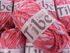 10 x 50 GRMS TIBET SUPER CHUNKY WITH WOOL  BY STYLECRAFT # ROSEBUD