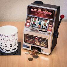 Miniature Desktop Slot Machine Lucky Slot 2-in-1 Coin Bank
