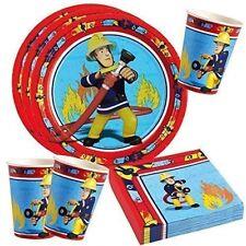 Fireman Sam Party Set - Plates, Cups, Napkins, Party Tablewear