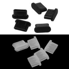 5PCS Type-C Dust Plug USB Charging Port Protector Silicone Cover for Cell Phone