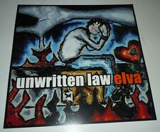 Unwritten Law~Elva~Promo Poster Flat~Double Sided~12x12~Nm Condition~2002