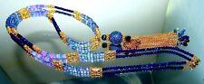 Blue Sapphire Pave Diamond Tanzanite Opal Lapis Lazuli Long Tassel Necklace 925