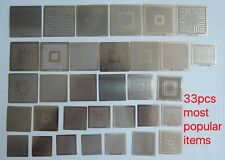 33pcs Direct Heated BGA reball direct heat stencils template factory sale  selec