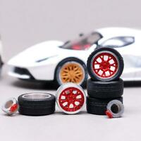 1:64 tire Buddy Club P1 Racing White rim fit Hot Wheels Honda diecast  New