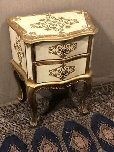 Vintage Italian Small Two Drawer Bedside Table, Chest