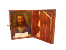 THE HOLY BIBLE Box CEDAR WOOD Jesus Picture Wooden Local Union Grand Rapids MI