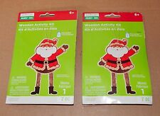 Christmas Wooden Activity Kits 6+ Creatology 14pc Makes 2 Ornament Santas 73I