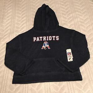 New England Patriots Hoodie Sweatshirt Juniors Large 11/13 NFL Team Apparel NWT