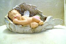 """Angel baby wrapped in Angel wings - so beautuful-7""""H x 6""""W x 1'L approx 2-3 lbs."""