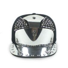 Boys Girls Baseball Cap Punk Rock Spike Hat Studded Rivet Snapback Adjustable