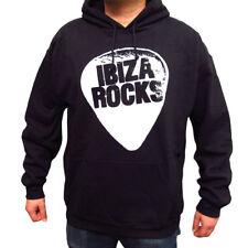 Ibiza Rocks Hoodie Men's Oversized Fit Logo Sweater Black OFFICIAL
