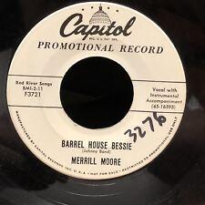 Rare Merrill Moore Rockabilly White Label Promo Capitol 3276 In Radio Sleeve NM-
