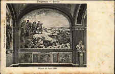 "BERLIN alte AK 1905 ungelaufen ZEUGHAUS ""Düppel 18. April 1864"" Kunst Postkarte"