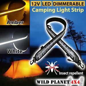 12V LED Dual Colour CAMPING LIGHT 1.3M FLEXIBLE Dimmer 5050 SMD CARAVAN BOAT WAT