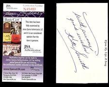 """KATE SMITH SINGER """"GOD BLESS AMERICA"""" (DECEASED) SIGNED 3X5 JSA COA #N45480"""