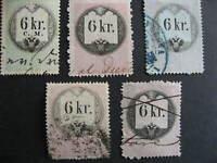 Austria U revenues 5 6 kr collector believed with print,plate varieties,errors