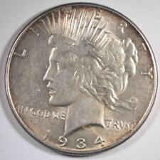 1934 PEACE SILVER DOLLAR, CH BU+ Lot 148