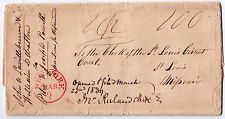 Stampless FLS - NEW YORK Mar 9, $1.00 to Clerk St. Louis Circuit Court, MO 1837