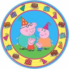 8 Peppa Pig Yellow Birthday Party 7\  Disposable Dessert Paper Plates  sc 1 st  eBay & Amscan Party Plates | eBay