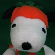 VERY RARE ORANGE GREAT PUMPKIN PEANUTS ANIMATED MUSICAL SNOOPY DOG PLUSH TOY