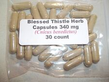 Blessed Thistle Herb Capsules (Centaurea benedicta) 340 mg   30 count