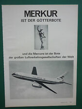 11/1972 PUB AVIONS MARCEL DASSAULT MERCURE AIRLINER AIR INTER AIRLINE GERMAN AD