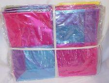 bright plastic girls bag x 6