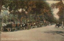 Savin Rock CT Auto Row Old Cars c1910 Postcard spc