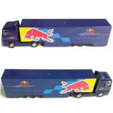 Majorette Red Blue Racing F1 Team truck tractor trailer transport toy car diecas