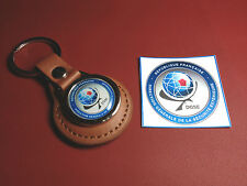 DGSE ( French Police  Agency) Leather Key Ring:  `General Directorate D.G.S.E.`