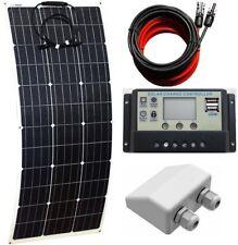 100w Flexible Solar Panel /w 10A LCD Controller Dual USB & 2m MC4 & inlet gland